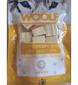 Woolf Dog Chicken & Codfish Soft Sandwich 100 g